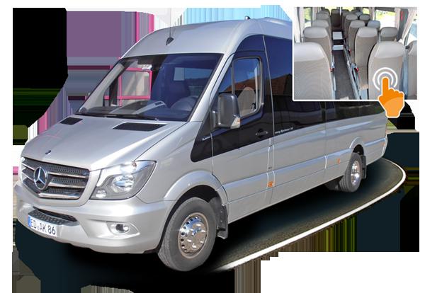 bustouristik kistler 20 sitzer sprinter. Black Bedroom Furniture Sets. Home Design Ideas